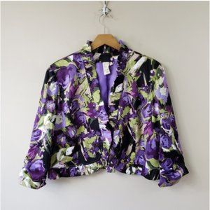 Lavender & Honey | Abstract Floral Jacket
